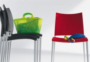 Stuhl Desalto Modell Sand Farbig